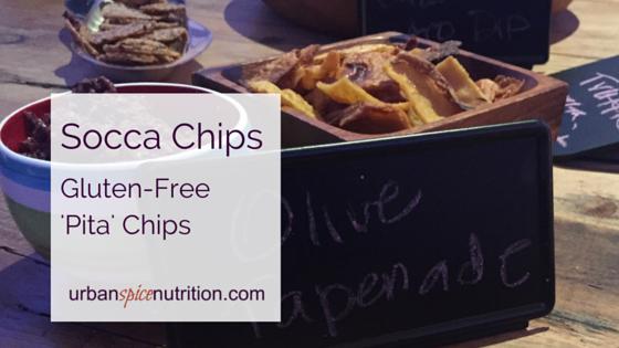 Socca Chips: Gluten-free 'Pita' Chips